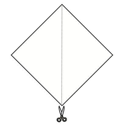 How to make a tray. Origami Triangular Trays - Step 2