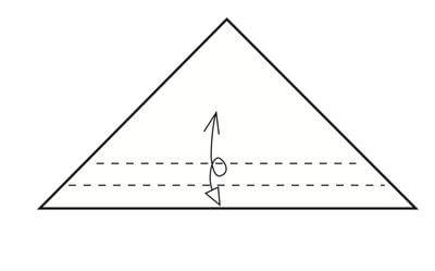 How to make a tray. Origami Triangular Trays - Step 3