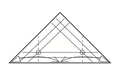 How to make a tray. Origami Triangular Trays - Step 5