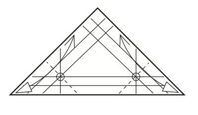 How to make a tray. Origami Triangular Trays - Step 6
