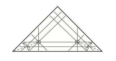 How to make a tray. Origami Triangular Trays - Step 7