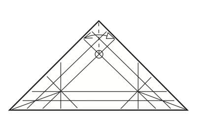 How to make a tray. Origami Triangular Trays - Step 8