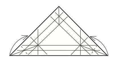 How to make a tray. Origami Triangular Trays - Step 9