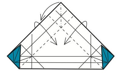 How to make a tray. Origami Triangular Trays - Step 10