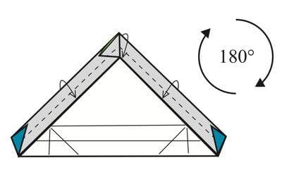 How to make a tray. Origami Triangular Trays - Step 11