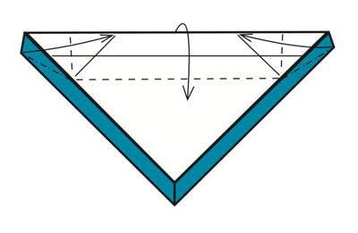 How to make a tray. Origami Triangular Trays - Step 12