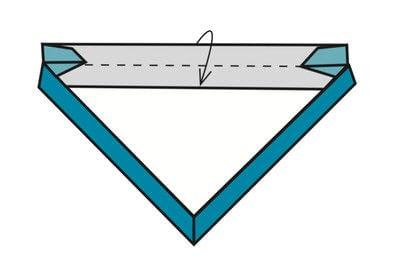 How to make a tray. Origami Triangular Trays - Step 13