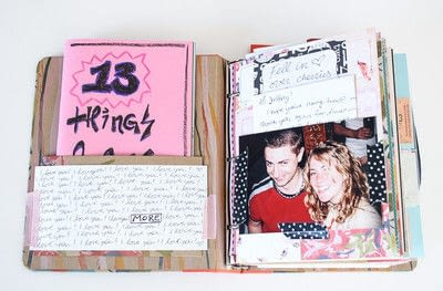 How to make a scrapbook. Love Letters Scrapbook - Step 1