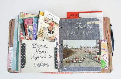 How to make a scrapbook. Love Letters Scrapbook - Step 2