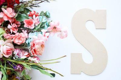 How to make a letter. Floral Letter Sign - Step 1