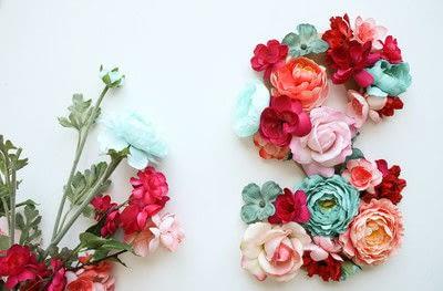 How to make a letter. Floral Letter Sign - Step 3
