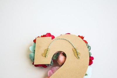 How to make a letter. Floral Letter Sign - Step 4