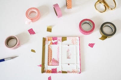 How to make a light switch. Washi Tape Light Switch Cover - Step 2