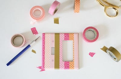 How to make a light switch. Washi Tape Light Switch Cover - Step 3