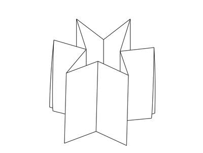 How to make a bound book. Booklet Fold Star Pop Up - Step 5