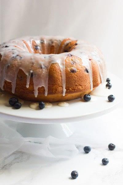 How to bake a bundt cake. Lemon Blueberry Pound Cake - Step 2