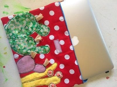 How to make a laptop case. Diy Laptop Sleeve - Step 4