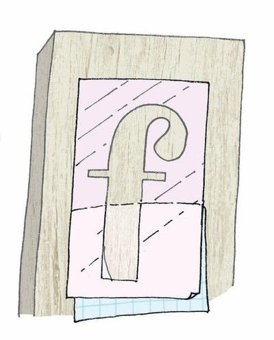 How to make a plaque / sign. Painted And Printed Wood - Step 4