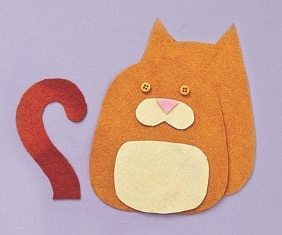 How to make a cat plushie. Cat Pocket - Step 1
