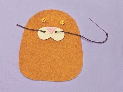 How to make a cat plushie. Cat Pocket - Step 3