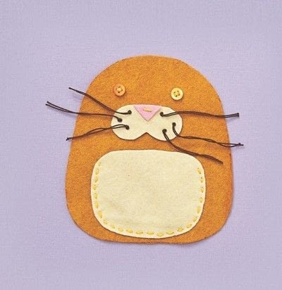 How to make a cat plushie. Cat Pocket - Step 4