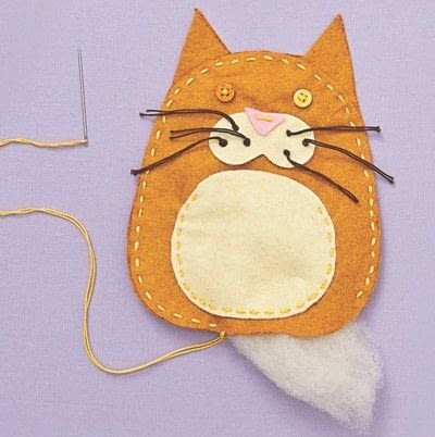 How to make a cat plushie. Cat Pocket - Step 7