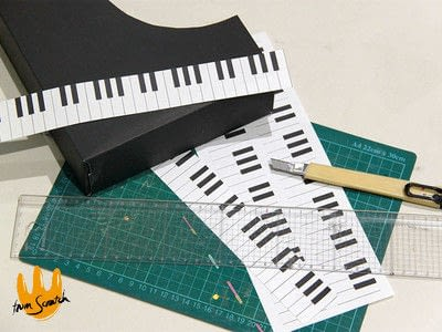 How to make an office accessory. Piano (File) Organizer - Step 3