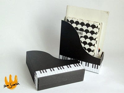 How to make an office accessory. Piano (File) Organizer - Step 5