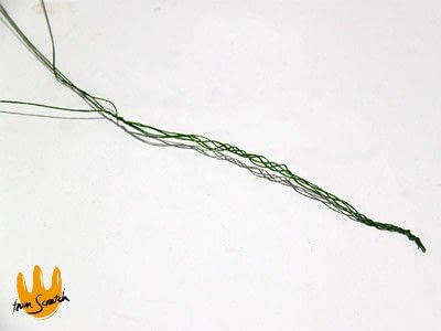How to make a hairband / headband. Leafy Headband - Step 2