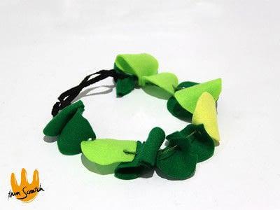 How to make a hairband / headband. Leafy Headband - Step 3