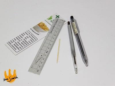 How to make a pens & pencils. Instant Compass Ruler - Step 1