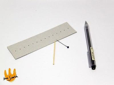 How to make a pens & pencils. Instant Compass Ruler - Step 2