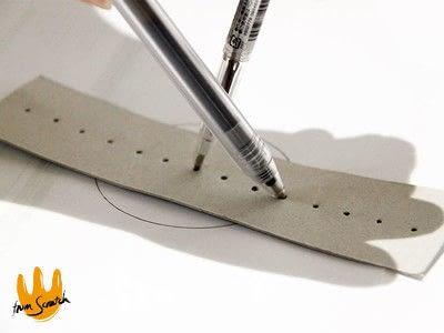 How to make a pens & pencils. Instant Compass Ruler - Step 4
