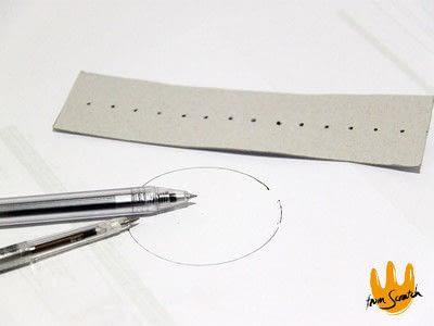 How to make a pens & pencils. Instant Compass Ruler - Step 5