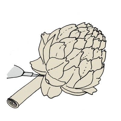 How to make a paper flower. Paper Artichokes - Step 6