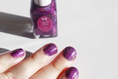 How to paint a gradient nail. Black Rose Ombre Nails - Step 1