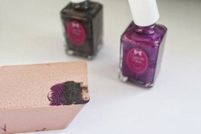 How to paint a gradient nail. Black Rose Ombre Nails - Step 2