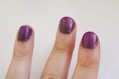 How to paint a gradient nail. Black Rose Ombre Nails - Step 4