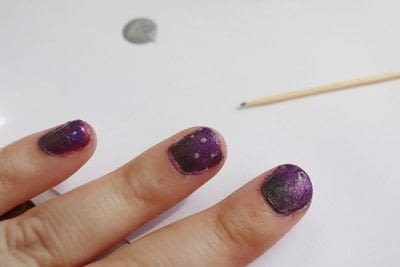 How to paint a gradient nail. Black Rose Ombre Nails - Step 6