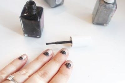 How to paint an animal nail. Black Cat Manicure - Step 3