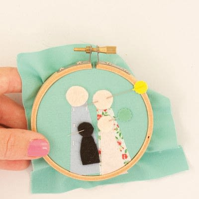 How to embroider art. Family Portrait - Step 10
