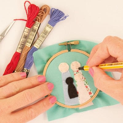 How to embroider art. Family Portrait - Step 11