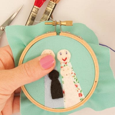 How to embroider art. Family Portrait - Step 12