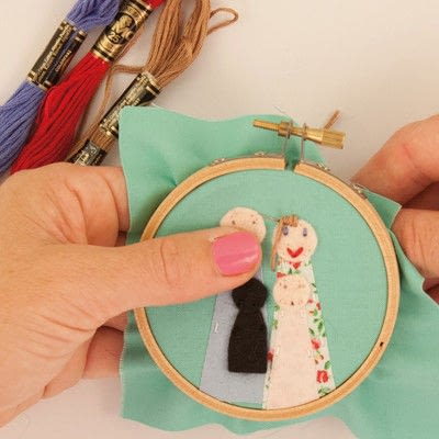 How to embroider art. Family Portrait - Step 13