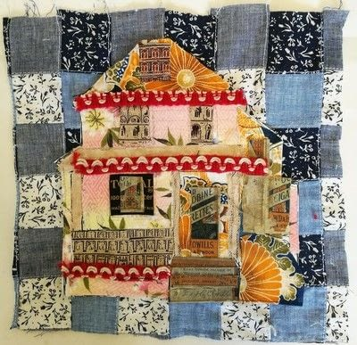 How to make a patchwork quilt. House Collage - Step 6