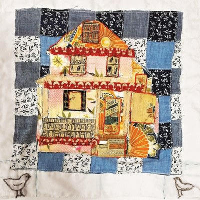 How to make a patchwork quilt. House Collage - Step 7