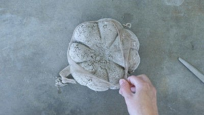 How to make a piece of seasonal decor. Easy Concrete Pumpkins In 20 Minutes - Step 5