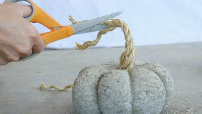 How to make a piece of seasonal decor. Easy Concrete Pumpkins In 20 Minutes - Step 6