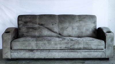 How to make a sofa. Paint Your Old Couch To Look And Feel Like Leather!  - Step 1