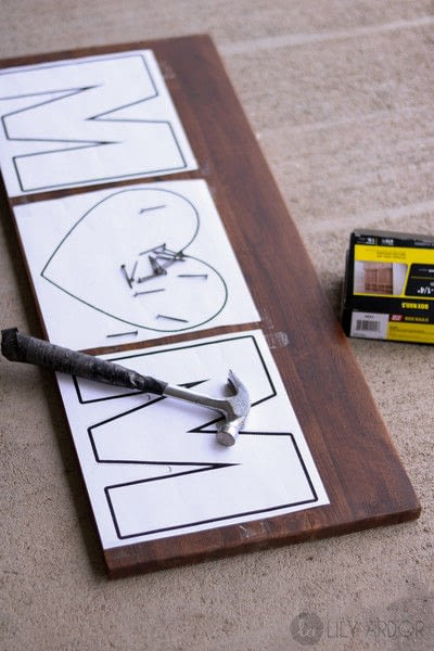 How to make string art. A Special Gift For Your Mom  - Step 1